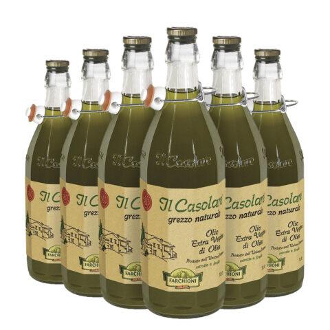 Olio EVO il Casolare Farchioni, pack risprmio 6 bottiglie