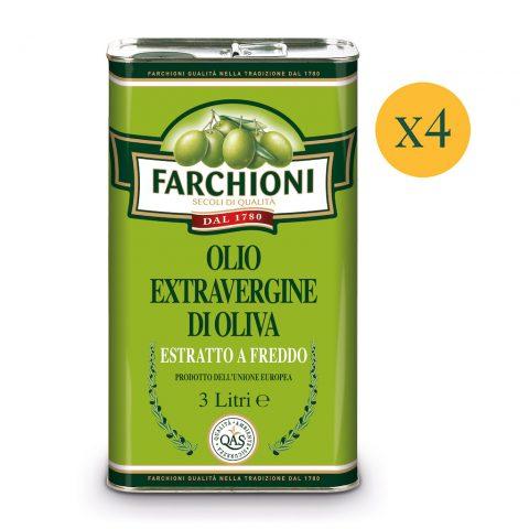 Olio extra vergine di oliva Farchioni Classico in latta 3 litri