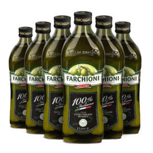 olio extra vergine di oliva farchioni 100% italiano in bottiglia