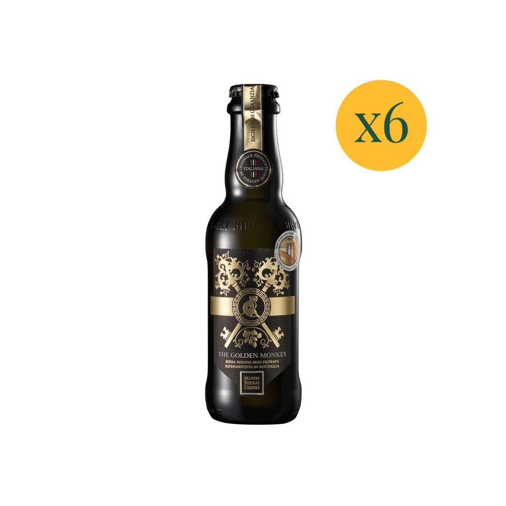 Birra in bottiglia golden monkey confezione 6 birre