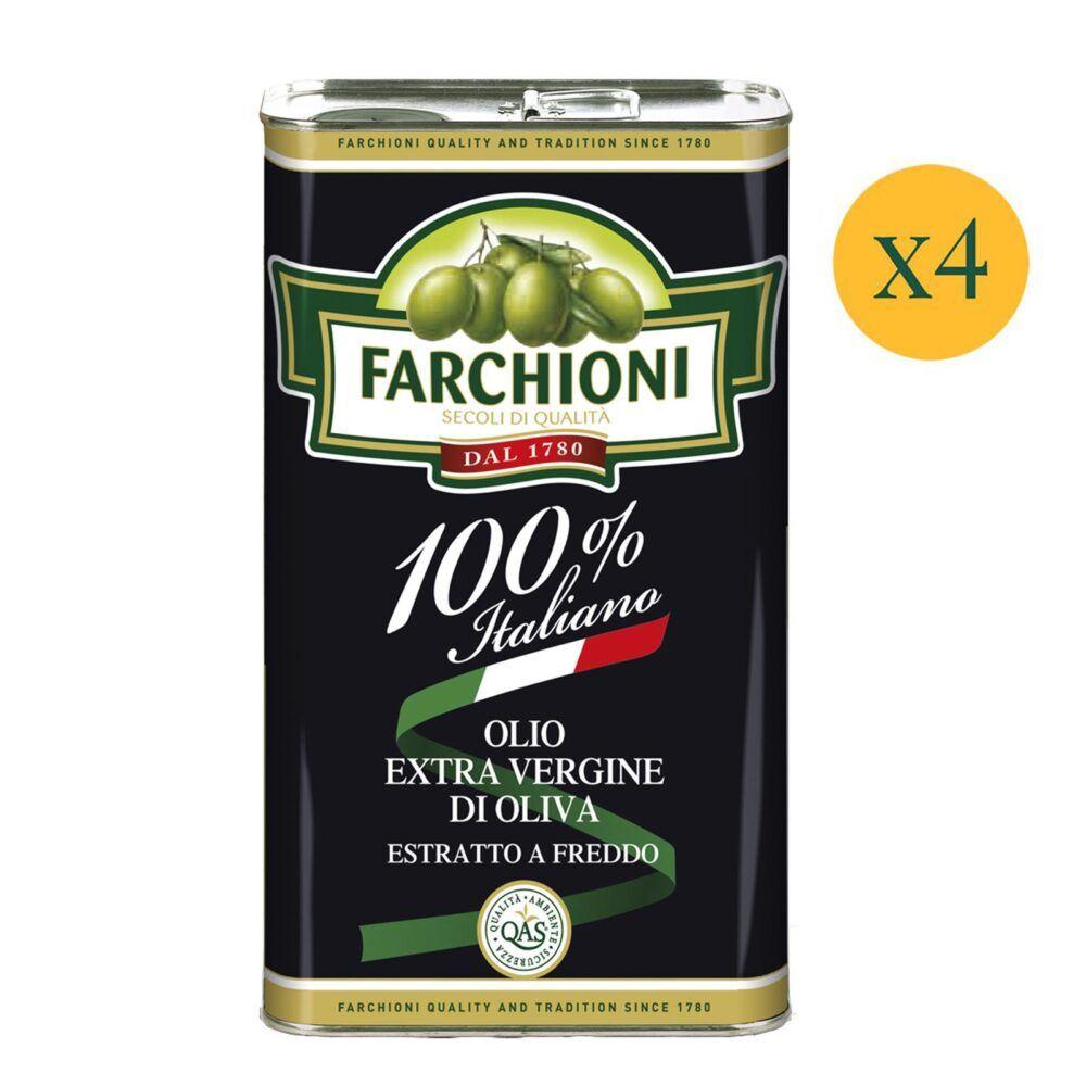 Olio extra vergine di oliva Farchioni 100% Italiano in latta 3 litri
